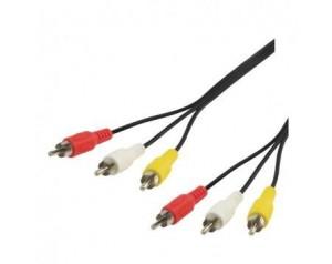 Video kabel 3činča-3činča 1.5m